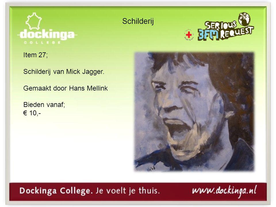 Schilderij Item 27; Schilderij van Mick Jagger. Gemaakt door Hans Mellink Bieden vanaf; € 10,-