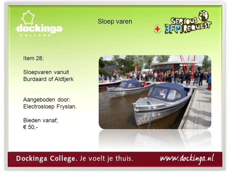 Sloep varen Item 28; Sloepvaren vanuit Burdaard of Aldtjerk Aangeboden door: Electrosloep Fryslan.