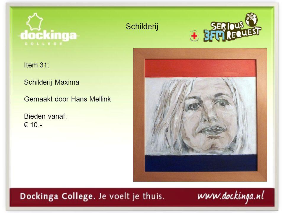 Schilderij Item 31: Schilderij Maxima Gemaakt door Hans Mellink Bieden vanaf: € 10.-
