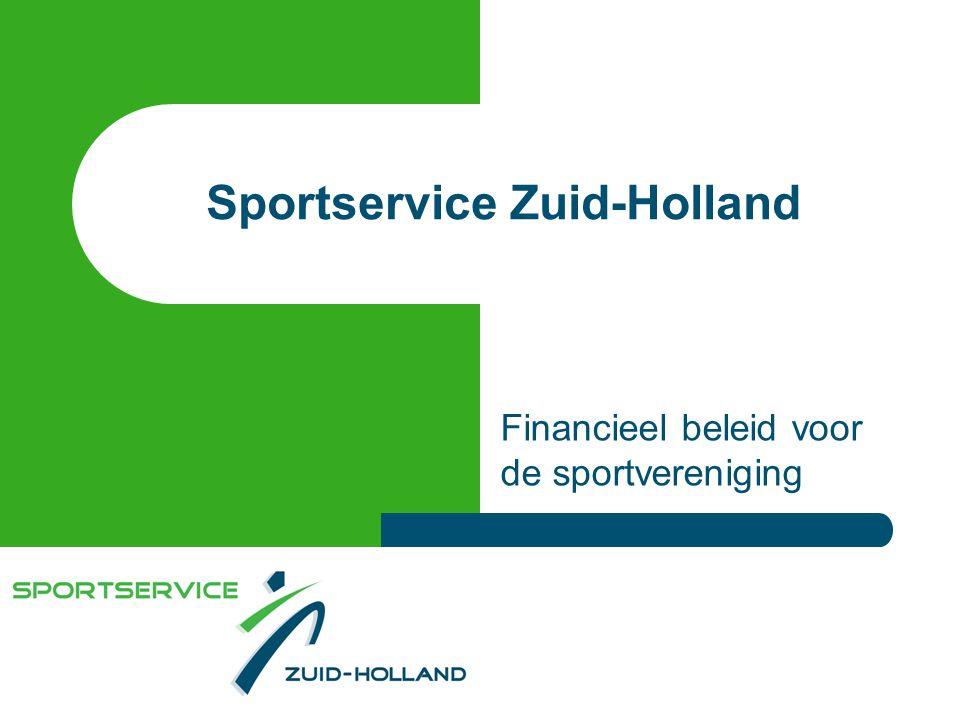 Sportservice Zuid-Holland Financieel beleid voor de sportvereniging