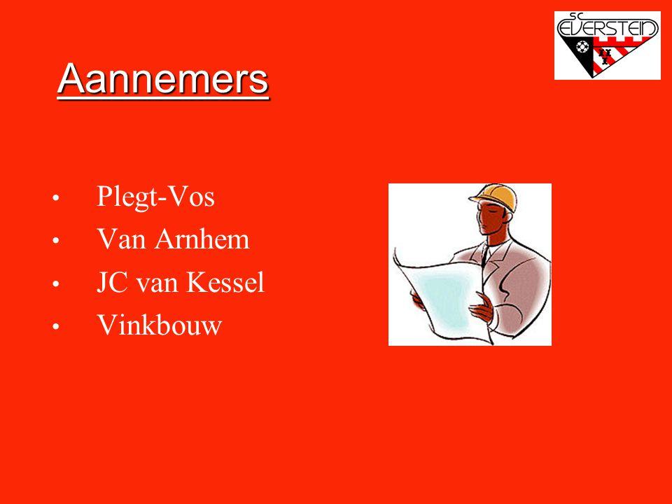 Aannemers • Plegt-Vos • Van Arnhem • JC van Kessel • Vinkbouw