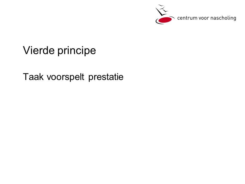Vierde principe Taak voorspelt prestatie