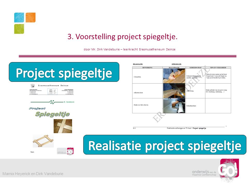 3.Voorstelling project spiegeltje. door Mr.