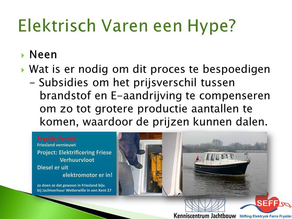  Neen  Wat is er nodig om dit proces te bespoedigen - Subsidies om het prijsverschil tussen brandstof en E-aandrijving te compenseren om zo tot grot