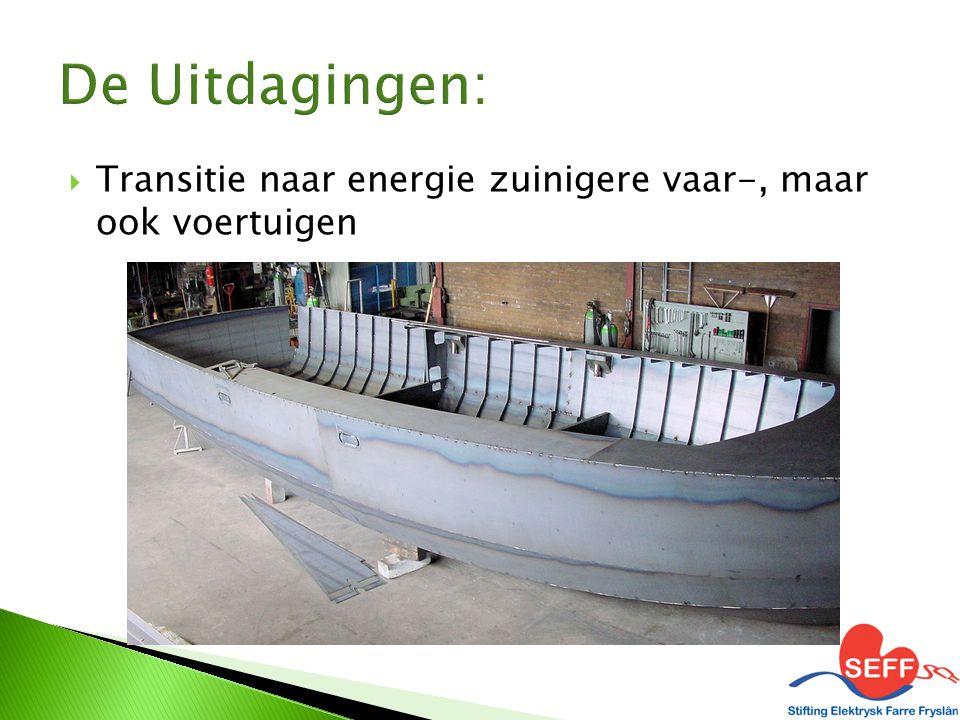 Transitie naar energie zuinigere vaar-, maar ook voertuigen