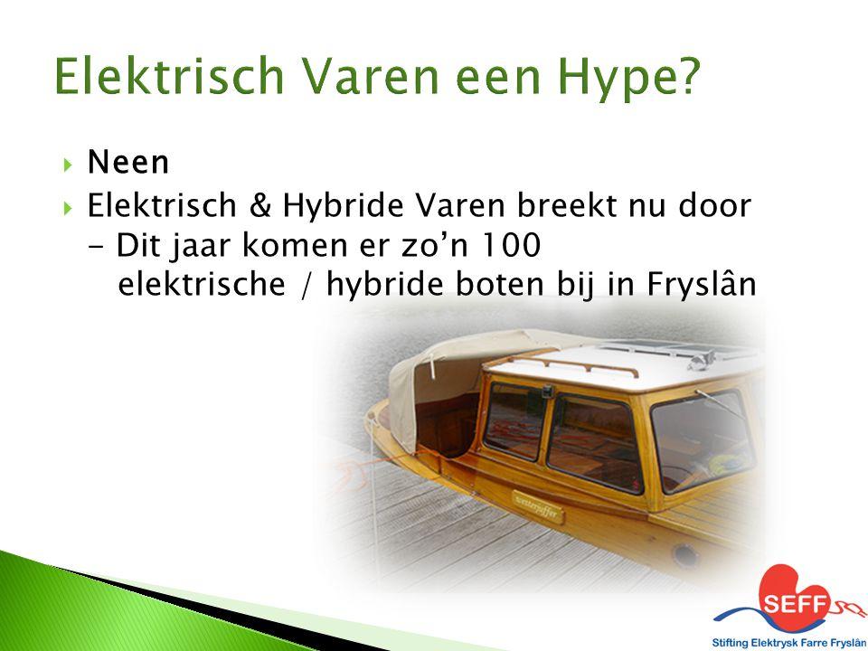  Neen  Elektrisch & Hybride Varen breekt nu door - Dit jaar komen er zo'n 100 elektrische / hybride boten bij in Fryslân