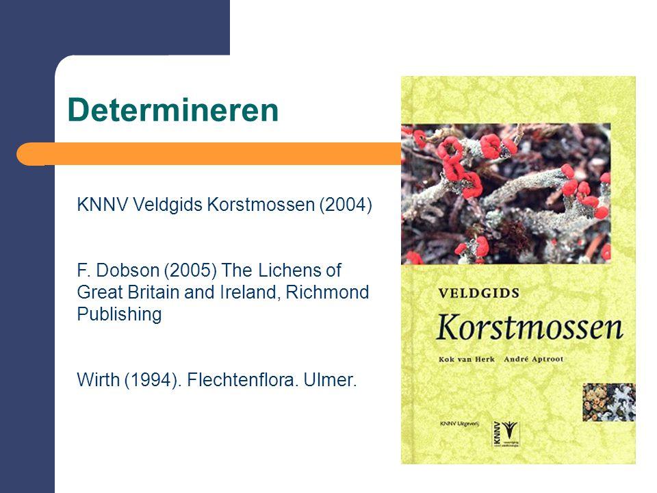 Determineren KNNV Veldgids Korstmossen (2004) F.