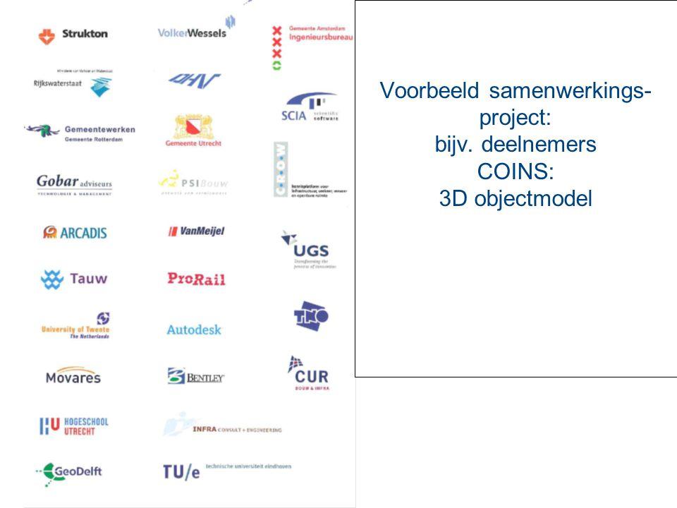 Voorbeeld samenwerkings- project: bijv. deelnemers COINS: 3D objectmodel