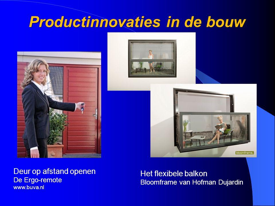 Deur op afstand openen De Ergo-remote www.buva.nl Productinnovaties in de bouw Het flexibele balkon Bloomframe van Hofman Dujardin