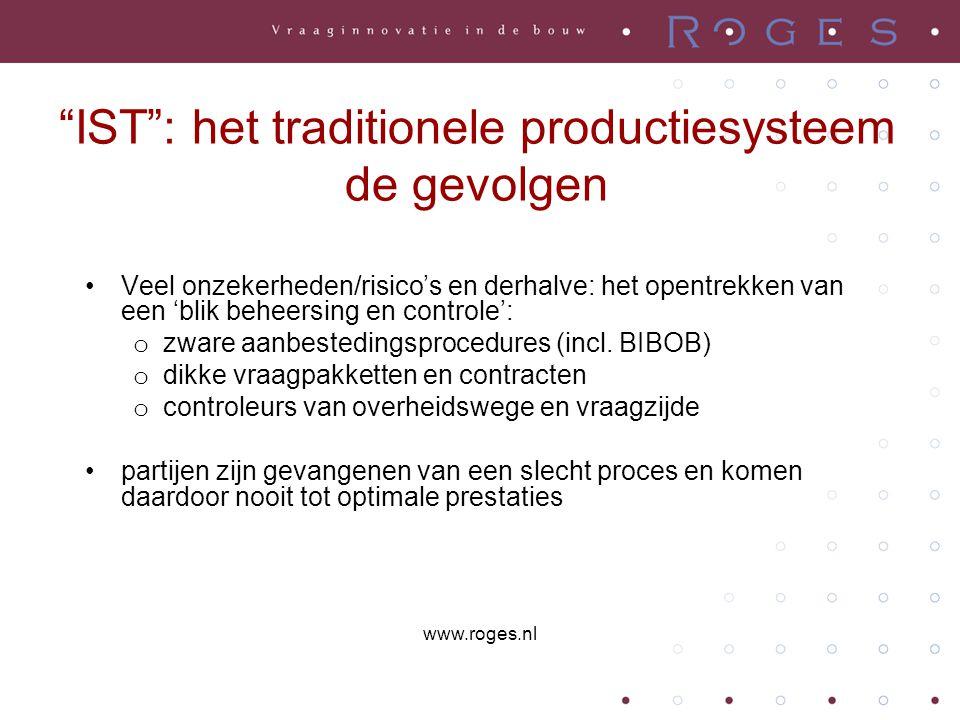 """""""IST"""": het traditionele productiesysteem de gevolgen •Veel onzekerheden/risico's en derhalve: het opentrekken van een 'blik beheersing en controle': o"""