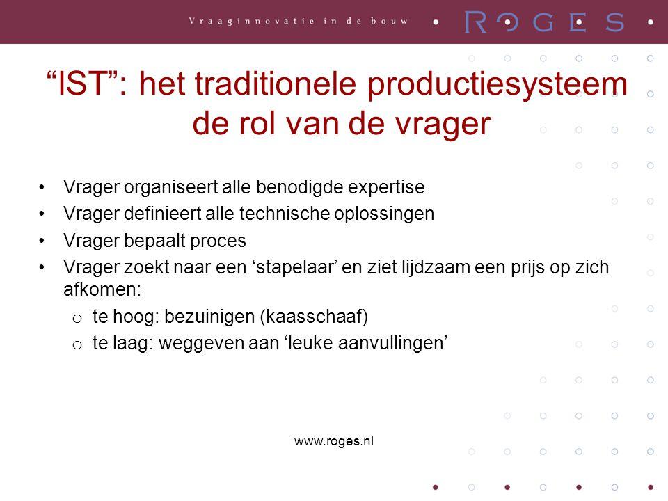 """""""IST"""": het traditionele productiesysteem de rol van de vrager •Vrager organiseert alle benodigde expertise •Vrager definieert alle technische oplossin"""