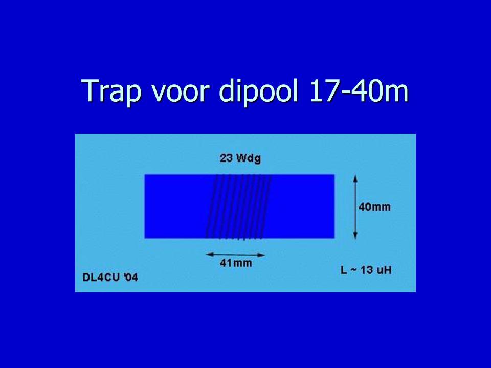 Trap voor dipool 17-40m