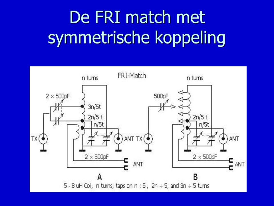 De FRI match met symmetrische koppeling