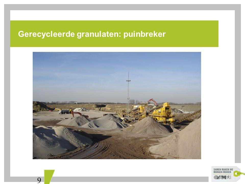 10 Gerecycleerde granulaten: betongranulaat