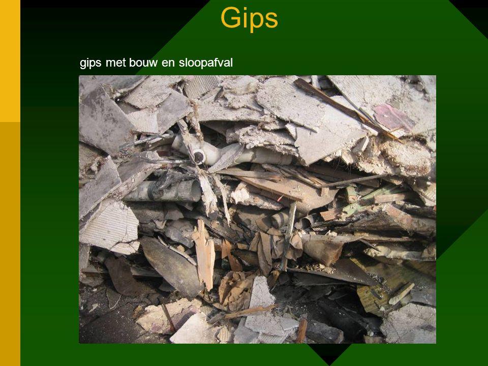 Gips gips met bouw en sloopafval