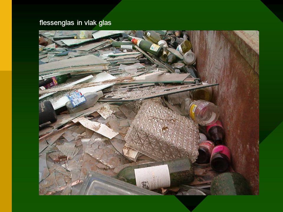 flessenglas in vlak glas