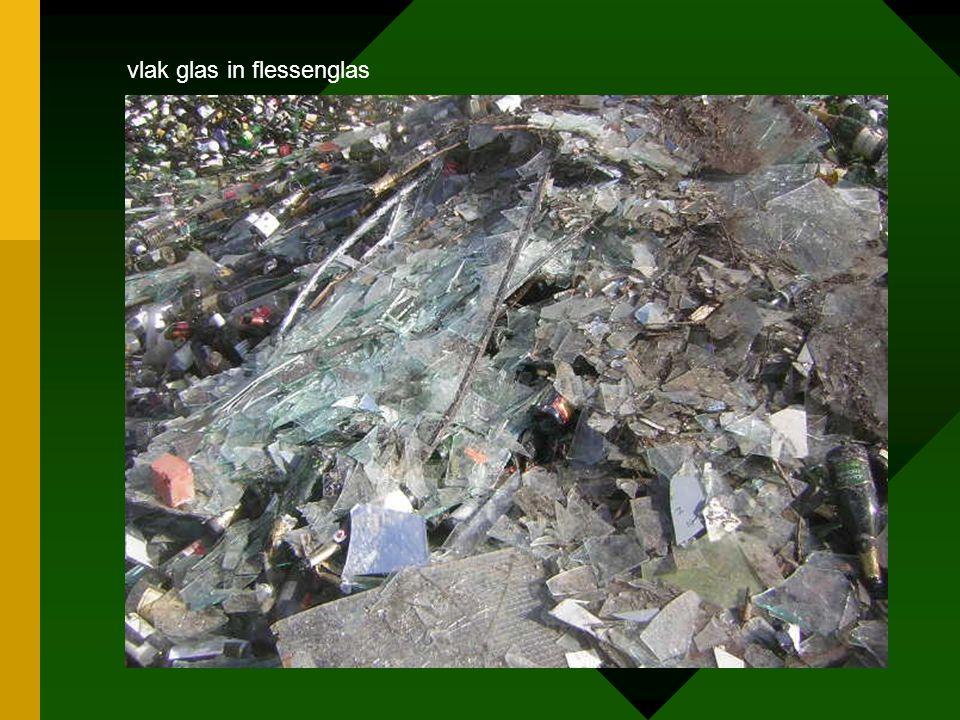 vlak glas in flessenglas