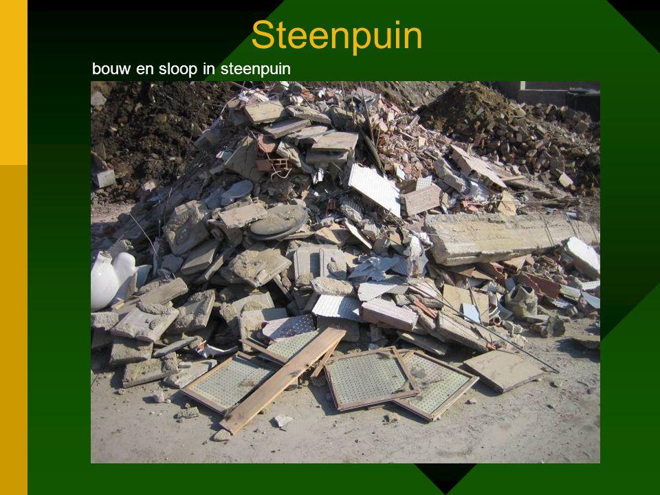 Steenpuin bouw en sloop in steenpuin