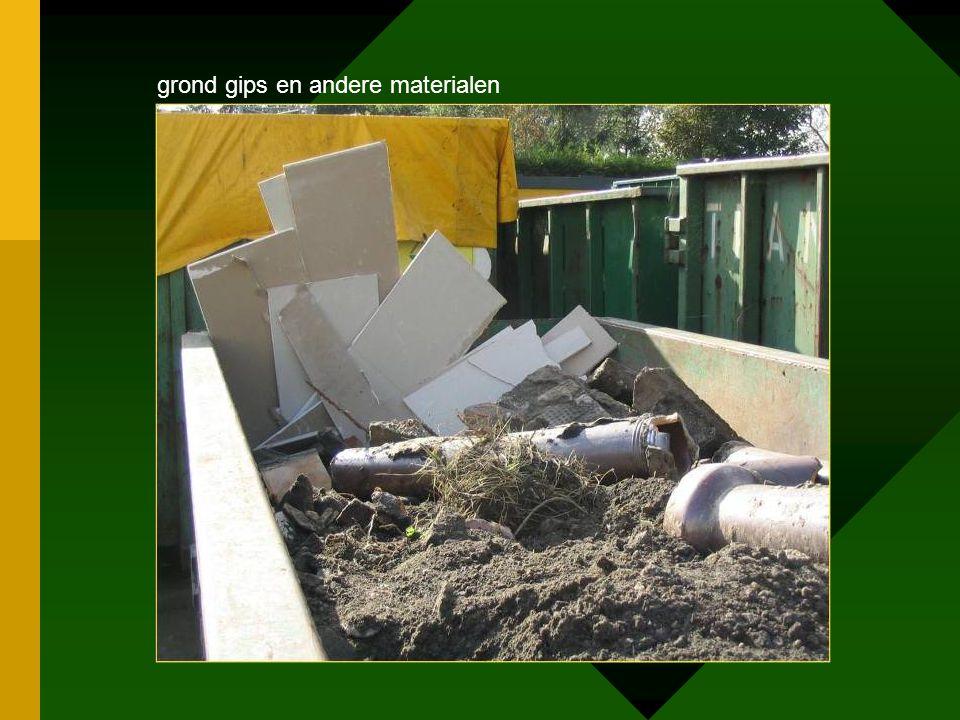 grond gips en andere materialen