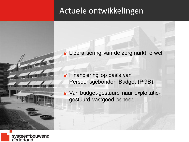 Actuele ontwikkelingen Liberalisering van de zorgmarkt, ofwel: Financiering op basis van Persoonsgebonden Budget (PGB).