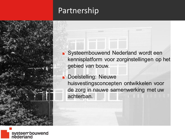 Partnership Systeembouwend Nederland wordt een kennisplatform voor zorginstellingen op het gebied van bouw.