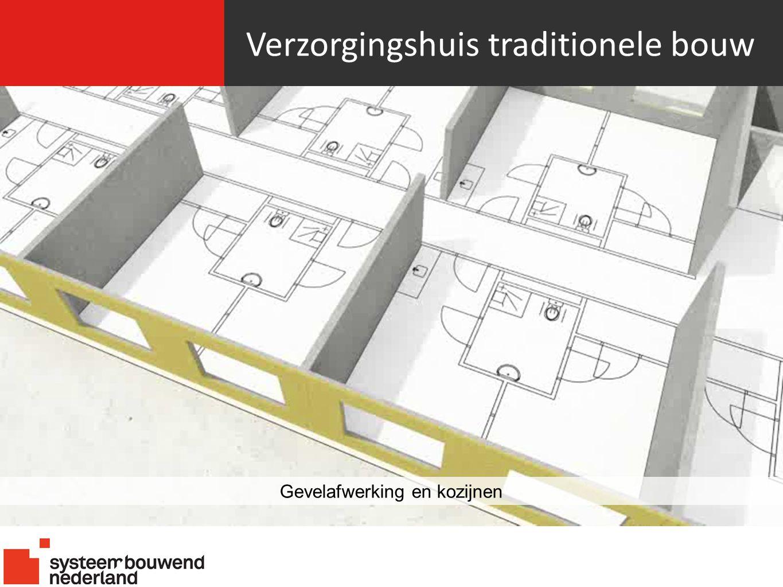 Verzorgingshuis traditionele bouw Gevelafwerking en kozijnen