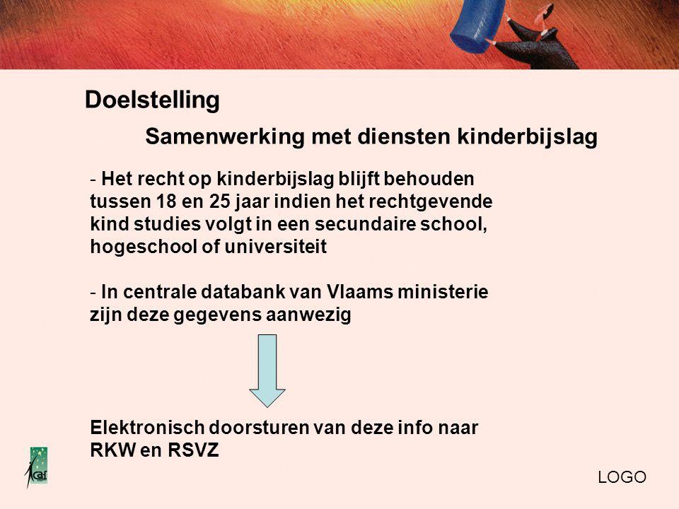 Doelstelling LOGO - Het recht op kinderbijslag blijft behouden tussen 18 en 25 jaar indien het rechtgevende kind studies volgt in een secundaire schoo