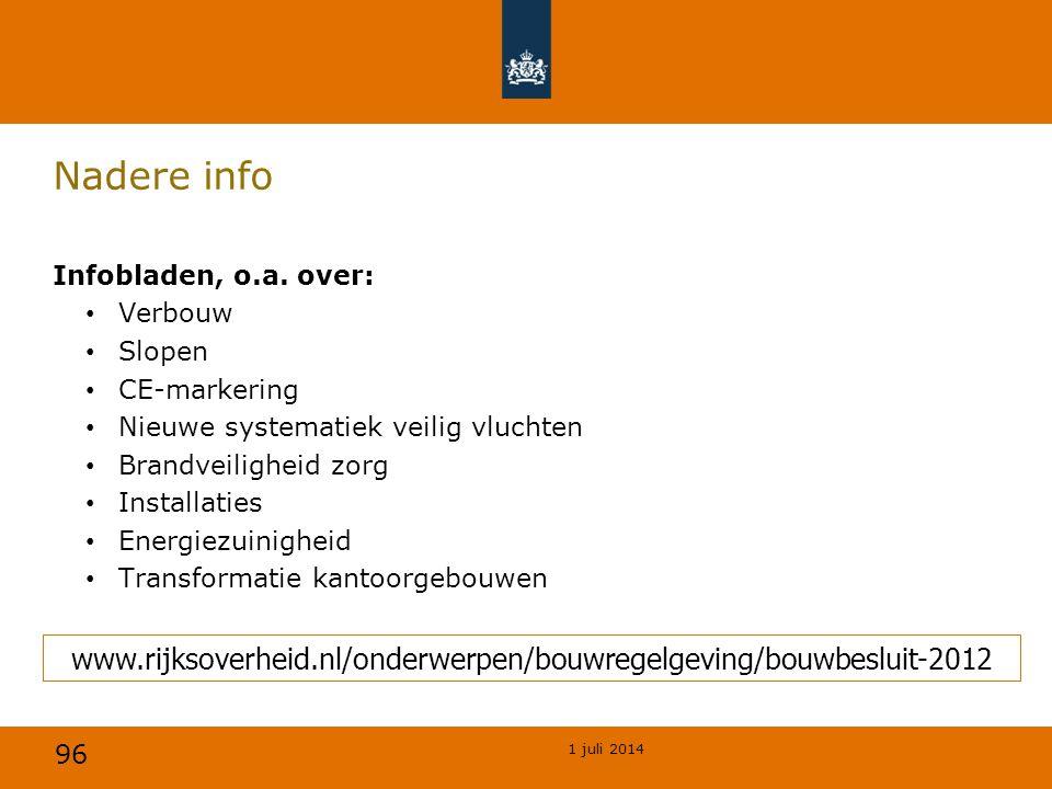 96 1 juli 2014 Nadere info Infobladen, o.a.