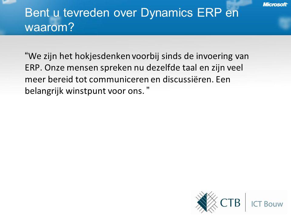 We zijn het hokjesdenken voorbij sinds de invoering van ERP.