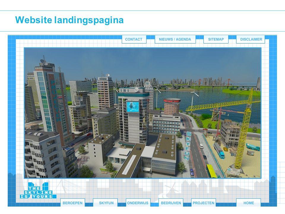 Website landingspagina
