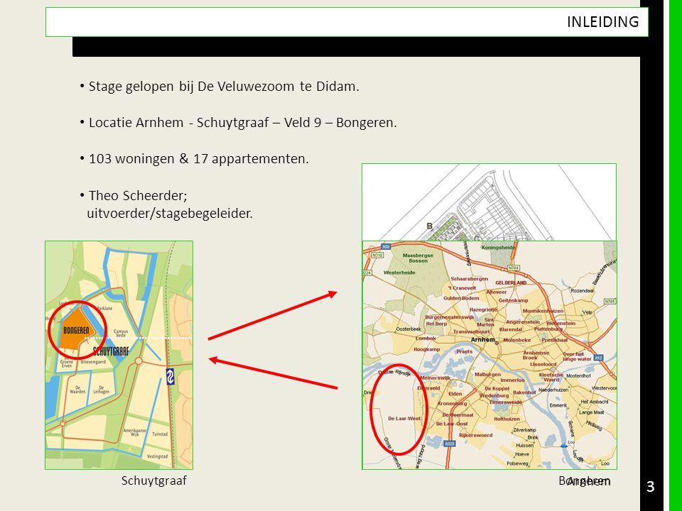 3 • Stage gelopen bij De Veluwezoom te Didam. • Locatie Arnhem - Schuytgraaf – Veld 9 – Bongeren. • 103 woningen & 17 appartementen. • Theo Scheerder;