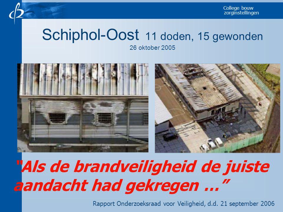 """College bouw zorginstellingen Schiphol-Oost 11 doden, 15 gewonden 26 oktober 2005 """"Als de brandveiligheid de juiste aandacht had gekregen …"""" Rapport O"""