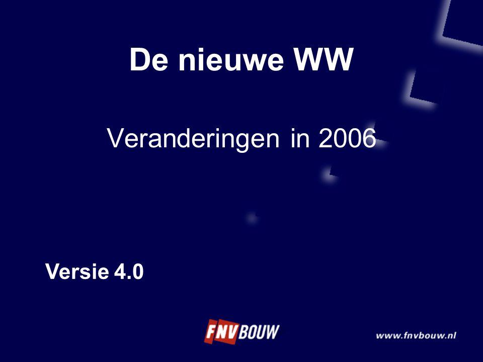 De nieuwe WW Veranderingen in 2006 Versie 4.0