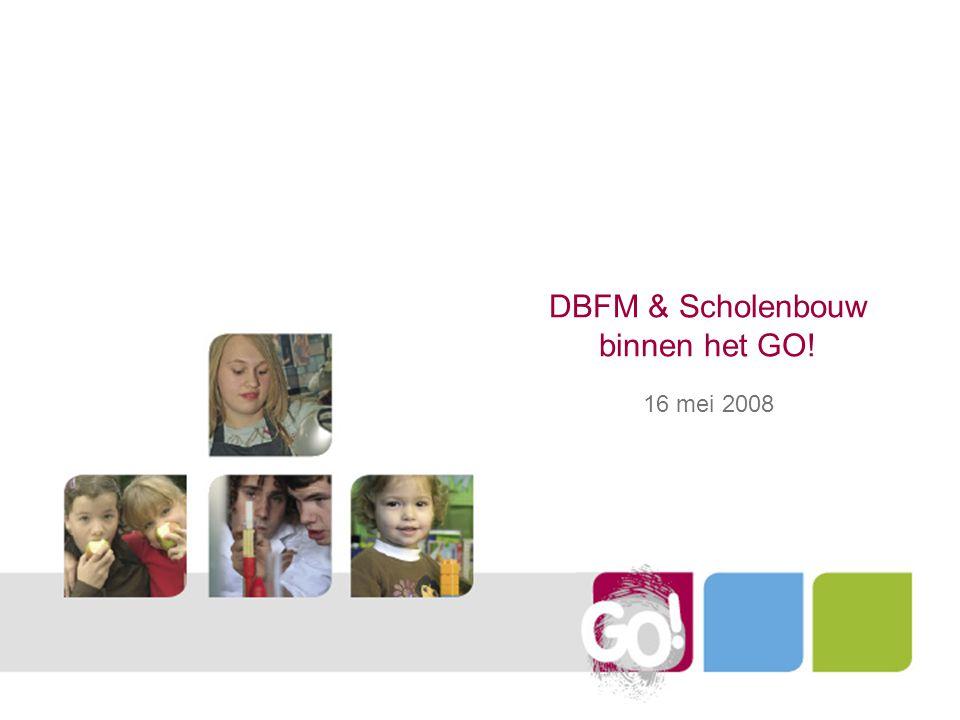 Structuur beleidsnota 4Inhaalbeweging schoolinfrastructuur 4.1DBFM concept 4.2DBFM dossiers 4.3Stand van zaken procedure 4.4Ondersteuning vanuit de centrale diensten 4.5Ondersteuning vanuit het team van de Vlaamse Bouwmeester 4.5.1Studio Open School 4.5.2Pilootprojecten 4.5.3Kunst in opdracht