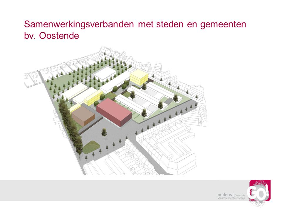 Samenwerkingsverbanden met steden en gemeenten bv. Oostende