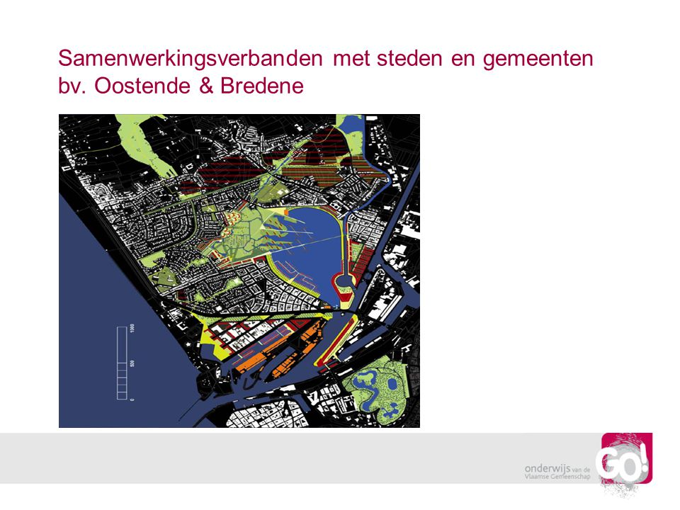 Samenwerkingsverbanden met steden en gemeenten bv. Oostende & Bredene