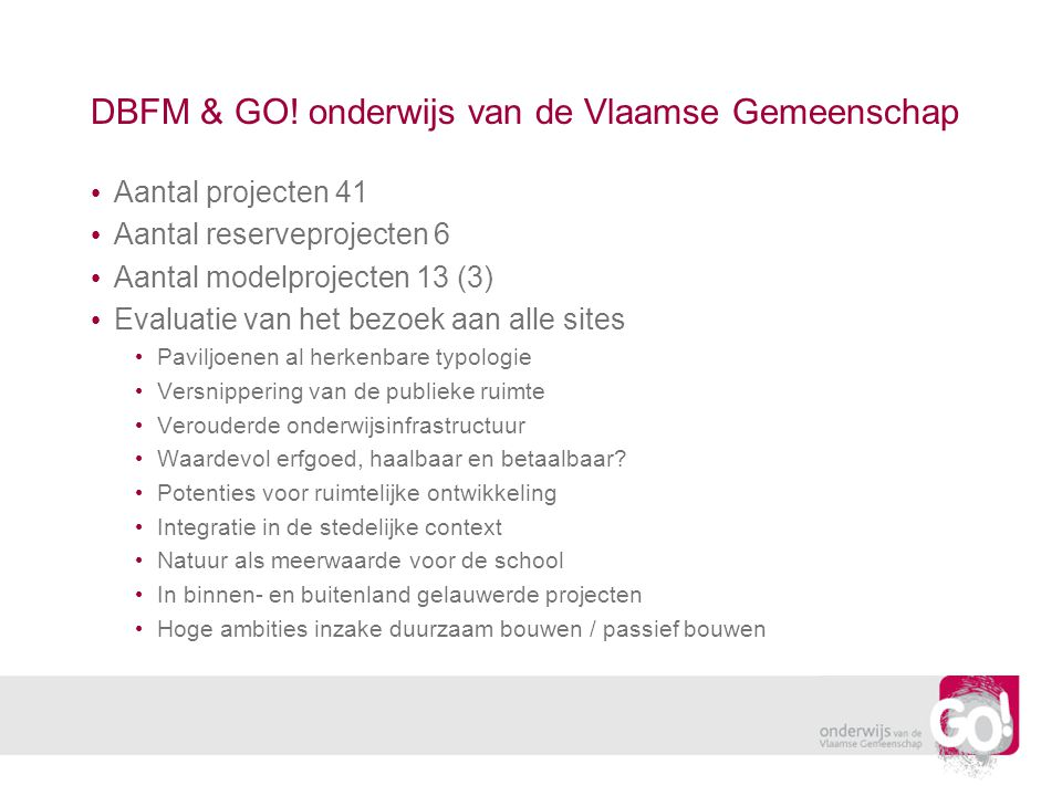 Digitaal platform: GO!PPS • De hoofdtoegang via website GO.