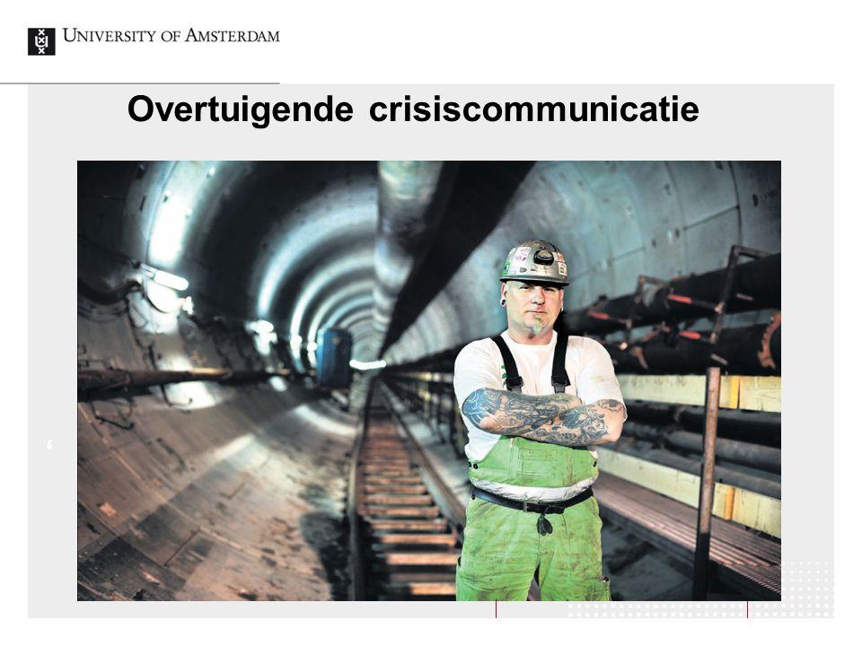 Overtuigende crisiscommunicatie '