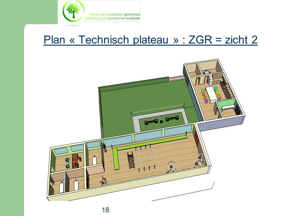18 Plan « Technisch plateau » : ZGR = zicht 2