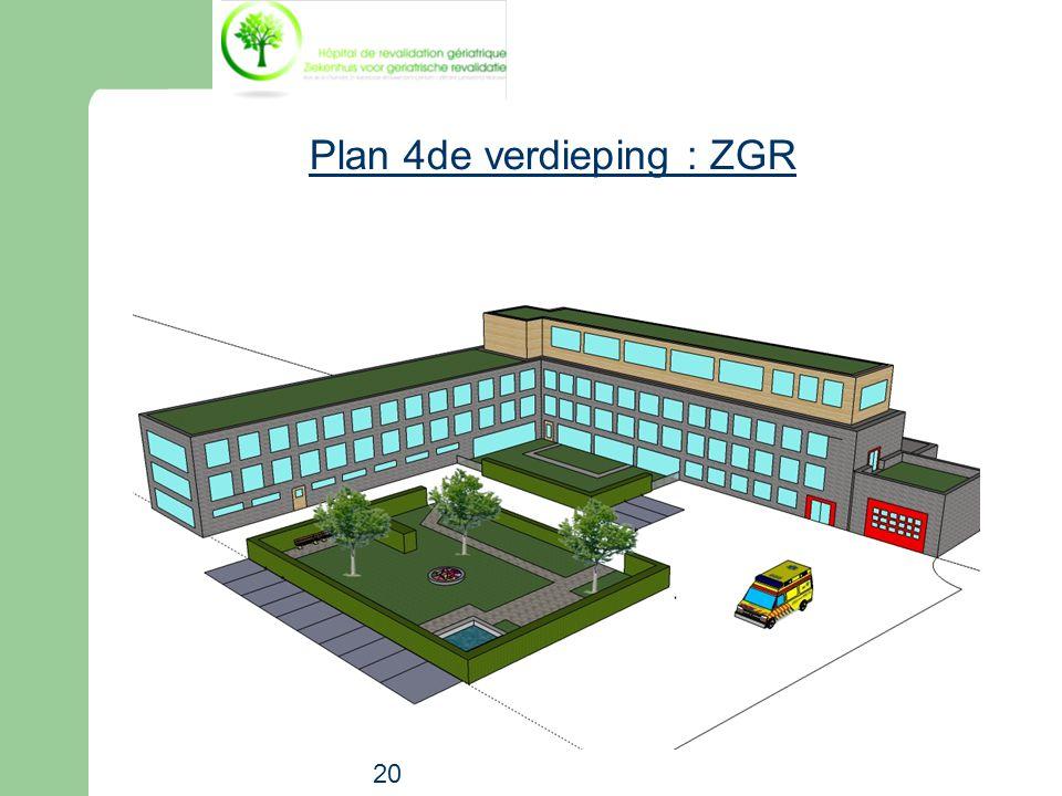 20 Plan 4de verdieping : ZGR