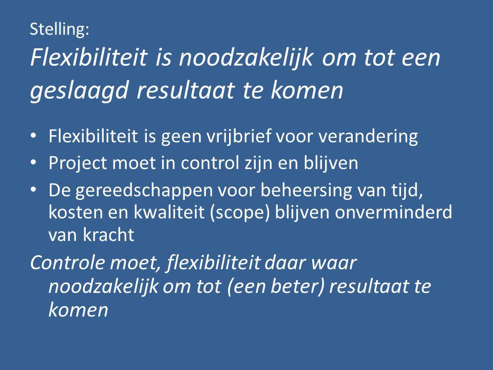 Stormvloedkering Oosterschelde Wet van gelijke ellende; De som van ellende van oplossingen is constant Vlucht niet direct weg in alternatieven.