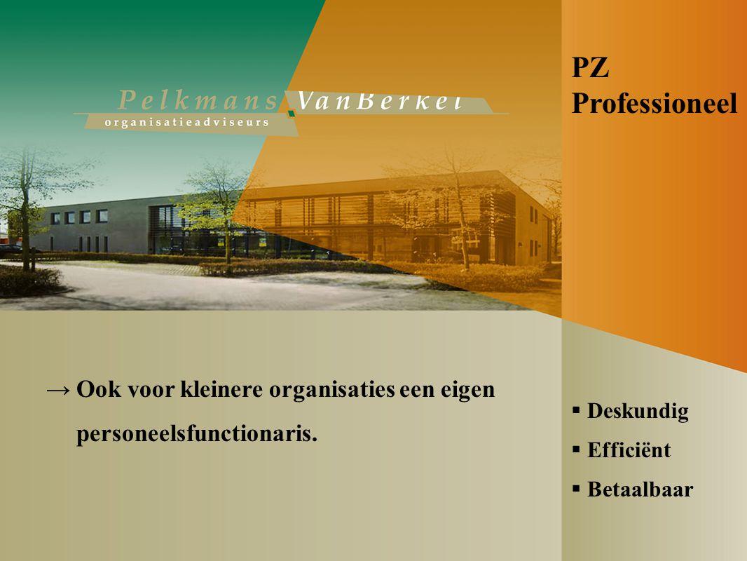 PZ Professioneel → Ook voor kleinere organisaties een eigen personeelsfunctionaris.