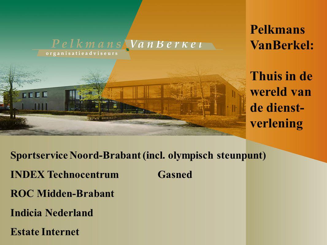 Thuis in de wereld van de dienst- verlening Sportservice Noord-Brabant (incl.