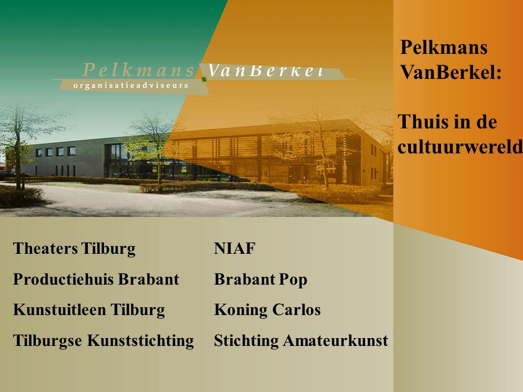 Thuis in de cultuurwereld Theaters Tilburg NIAF Productiehuis Brabant Brabant Pop Kunstuitleen Tilburg Koning Carlos Tilburgse Kunststichting Stichting Amateurkunst Pelkmans VanBerkel: