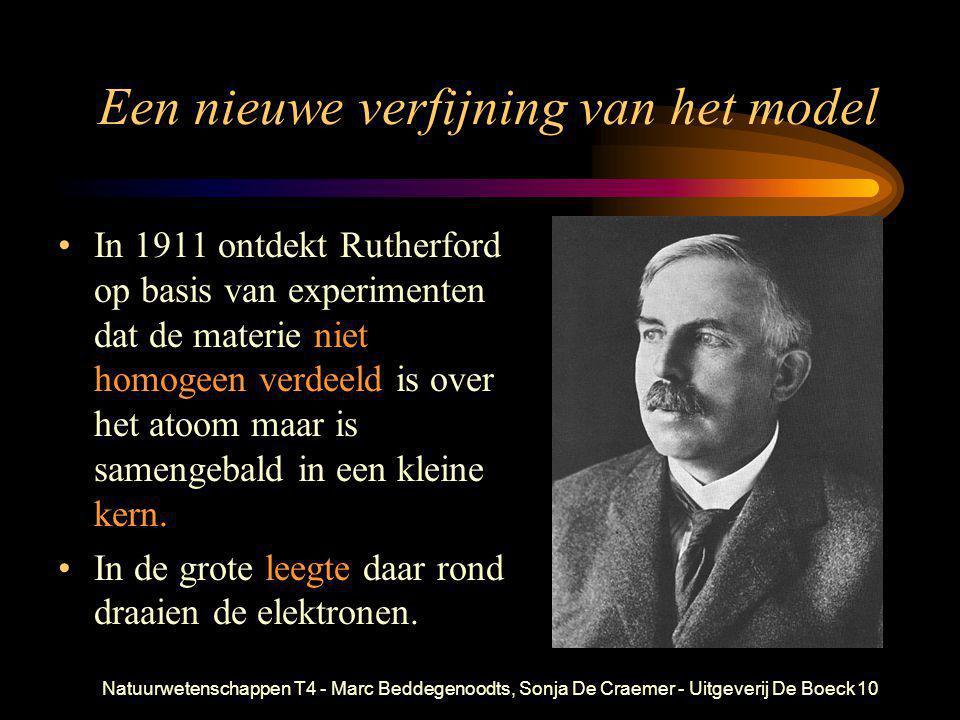 Natuurwetenschappen T4 - Marc Beddegenoodts, Sonja De Craemer - Uitgeverij De Boeck10 Een nieuwe verfijning van het model •In 1911 ontdekt Rutherford
