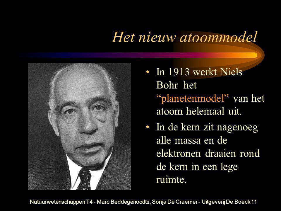 """Natuurwetenschappen T4 - Marc Beddegenoodts, Sonja De Craemer - Uitgeverij De Boeck11 Het nieuw atoommodel • In 1913 werkt Niels Bohr het """"planetenmod"""