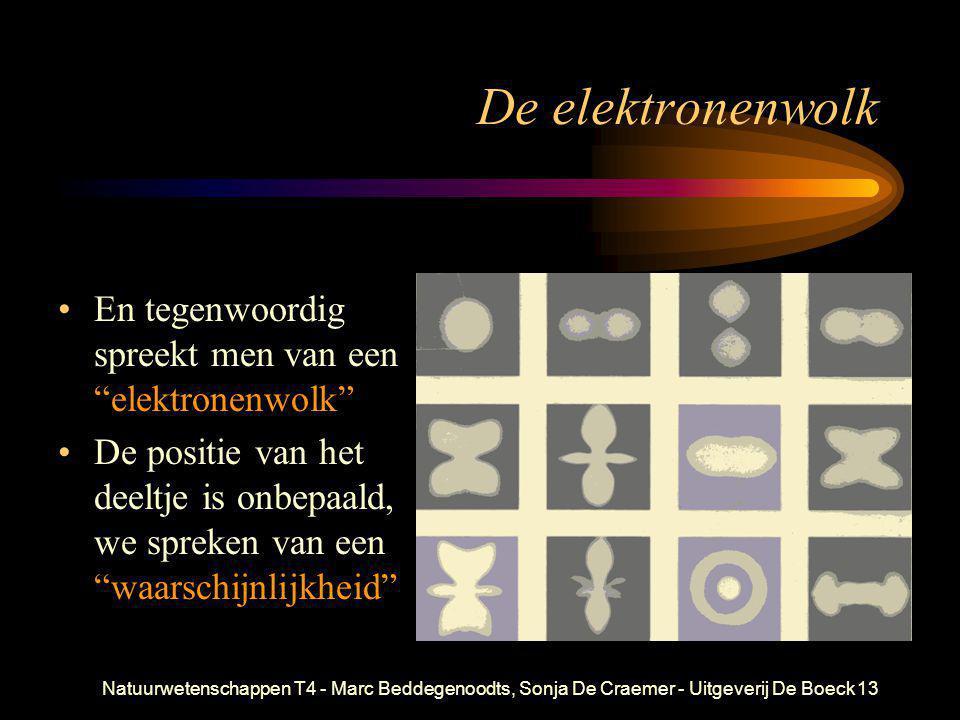 """Natuurwetenschappen T4 - Marc Beddegenoodts, Sonja De Craemer - Uitgeverij De Boeck13 De elektronenwolk •En tegenwoordig spreekt men van een """"elektron"""