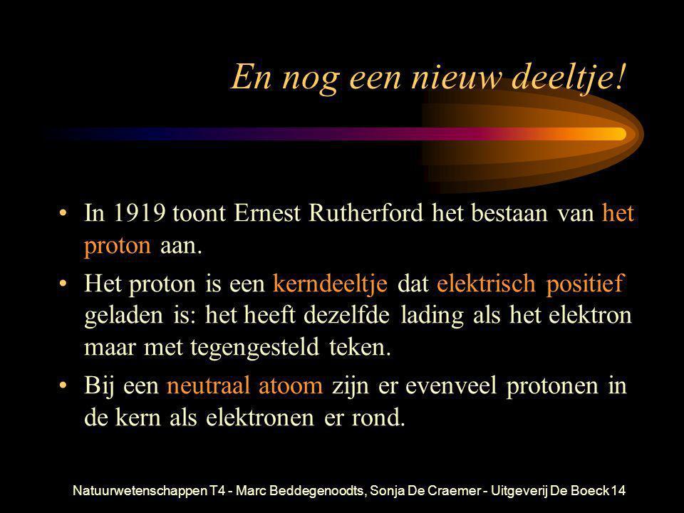 Natuurwetenschappen T4 - Marc Beddegenoodts, Sonja De Craemer - Uitgeverij De Boeck14 En nog een nieuw deeltje! •In 1919 toont Ernest Rutherford het b