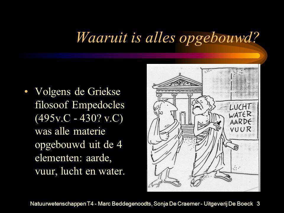 Natuurwetenschappen T4 - Marc Beddegenoodts, Sonja De Craemer - Uitgeverij De Boeck3 Waaruit is alles opgebouwd? •Volgens de Griekse filosoof Empedocl