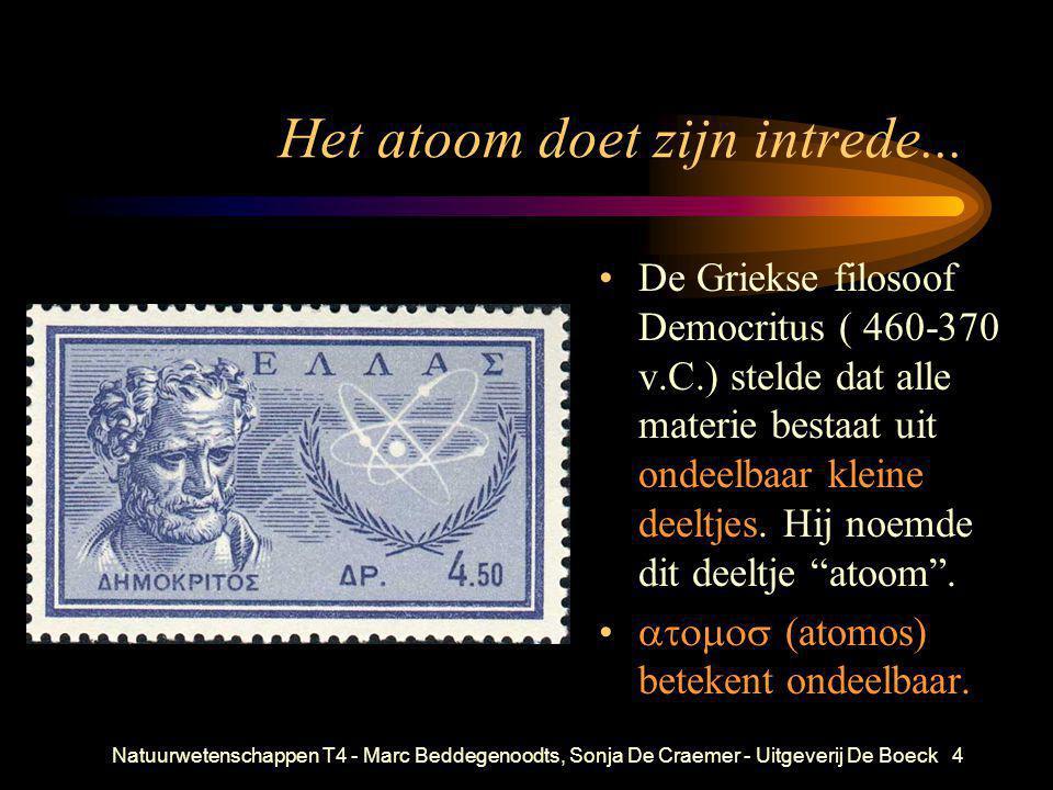 Natuurwetenschappen T4 - Marc Beddegenoodts, Sonja De Craemer - Uitgeverij De Boeck4 Het atoom doet zijn intrede... • De Griekse filosoof Democritus (